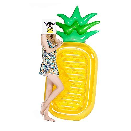 FTLTOP Flotador inflable gigante de piña para piscina de aire, flotadores de playa divertidos, juguetes de fiesta de natación,
