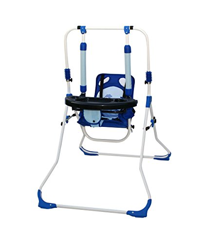 Infantasie Indoor Baby Swing and 2in 1Baby Swing 'Fly High Chair in a safety harness with strap, Padded Seat, Compact, Foldable in 6Designs