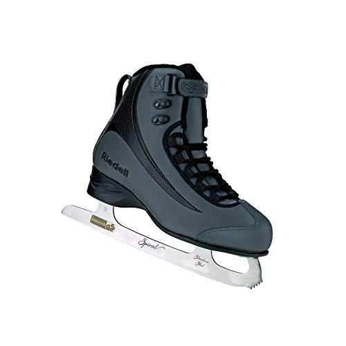 Riedell Skates - Soar Adult Ice Skates- Recreational Soft Beginner Figure Ice Skates | Onyx | Size 7