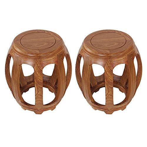 Taburete de bar 2PCS, taburete bajo de mesa de centro de palisandro, taburete redondo chino antiguo, taburete guzheng, banco, taburete para cambiar zapatos, proceso de encerado/A / 29×44.5