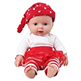 IVITA Silicone Baby Dolls,Not Vinyl Material Dolls,Real Full Body Silicone Reborn Baby Dolls, Soft Newborn Baby Dolls-11.8inch Girl