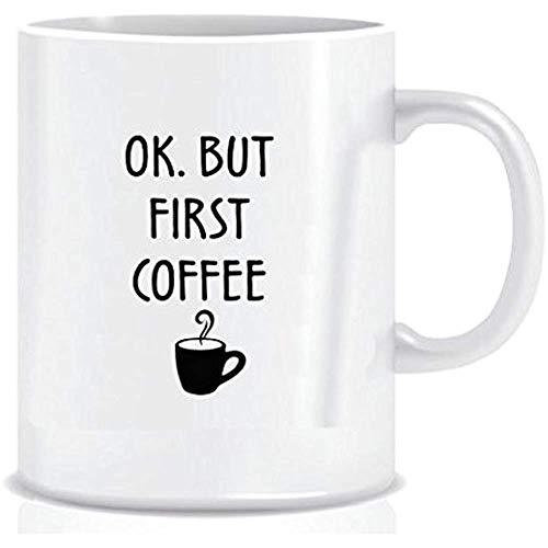 OK Mais Premier koffiemok met blauwe band