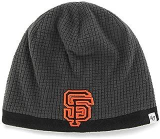 '47 MLB Child/Kid's Cuffless Grid Fleece Beanie Hat - Youth MLB Knit Skull Winter Cap