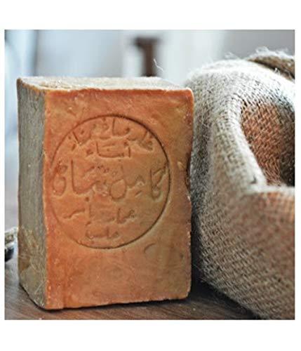 Originale Aleppo Seife mit Olivenöl/Lorbeeröl 60%/40% - Haarwaschseife/Duschseife - 100% Veganes Naturprodukt - reine Handarbeit ca.200g