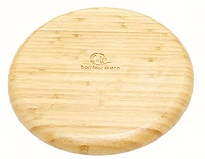 "Bamboo Plates 12"" 30cm?Eco Friendly Plates?Bamboo Plate Set?Alternate Plates Bamboo?Set of 4 Bamboo Plates?Reusable All Purpose Plates?Outdoor Camping BBQ Picnic?Household Home 12"" Round Plates"