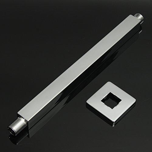 MJJEsports 30cm Chrome Vierkant Plafond Uitbreiding Arm Muur Gemonteerd voor Badkamer Douchekop