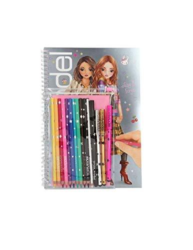 TOPModel- Libro da colorare con Set di Penne, 8760