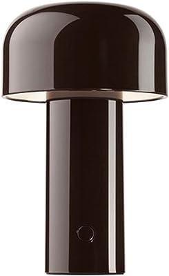 KLFD Modern LED Table Lamp Mushroom Desk Lamp USB Rechargeable Fashion Night Light Floor Lamp Bedroom Lamp Bedside Lamp Study Room Children's Room Bedside Table Lamp, Classic 3 Colors,Black