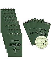 Cuaderno impermeable para todo tipo de clima, tamaño de bolsillo, espiral para ducha, notas acuáticas, cubierta rígida, patrón universal para grabación de actividades al aire libre