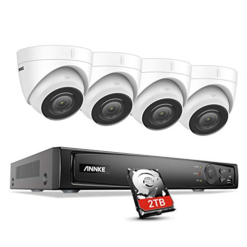 ANNKE H800 4K PoE CCTV Camera System w/Audio, Ultra HD 4X 8MP Outdoor Security Turret IP Cameras,...