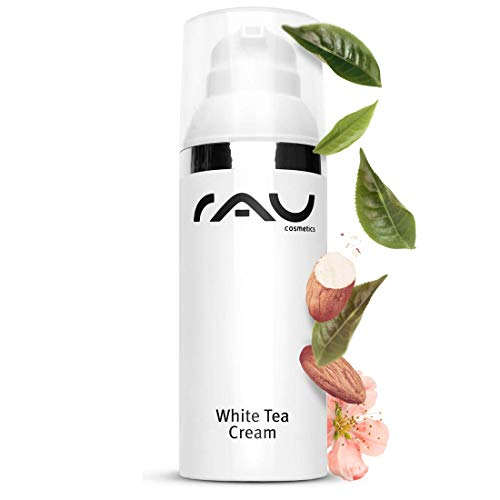 RAU White Tea Cream 50 ml - Vegan Gesichtscreme mit Anti-Aging Effekt für Trockene Haut