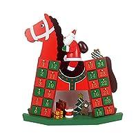 NATALE arredi a tema: questo calendario dell'avvento di legno è il modo perfetto per portare allegria il Natale a casa vostra questa festa season.Santa Claus cavalca su un cavallo, carino e delicato. Questo design creativo è sicuro di dare arredament...