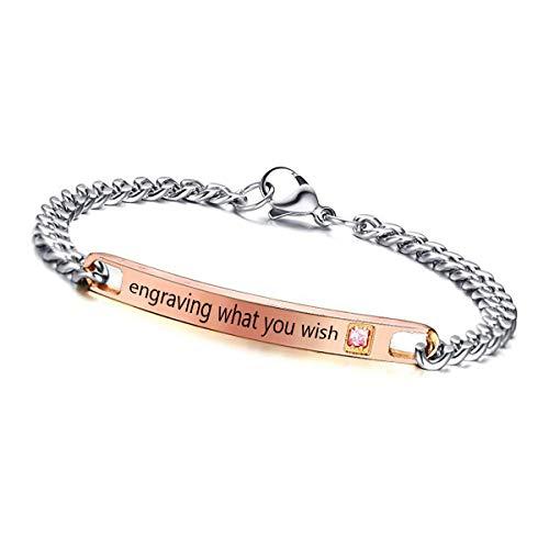 Glittel® Personalisierbares Armband | individuelle Geschenke | Edelstahl für Herren Damen Paare mit individueller professioneller Wunschgravur