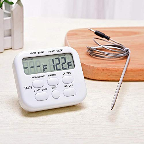 1 stuks Digital Oven Thermometer Kitchen Eten koken Vlees Grill Probe Met Timer Water Melk temperatuur koken Kitchen Tools