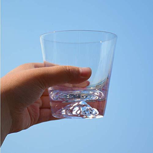 FEJK Schneegebirgstasse transparentes Glas Kung Fu Teetasse Haushaltsfrühstück Milchbecher Bar Weinglas 300ml