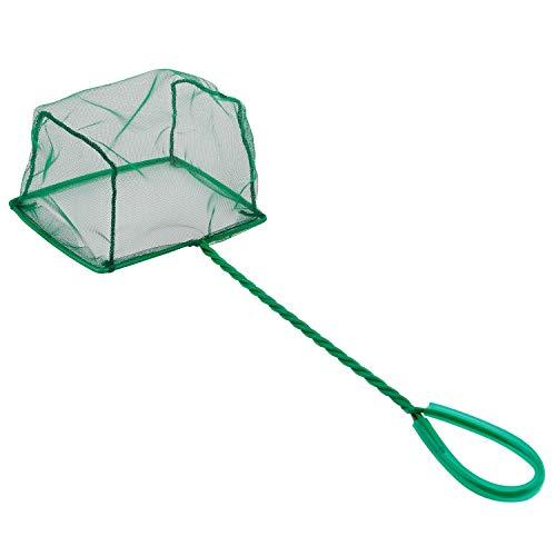 Pawfly 6 Inch Aquarium Fish Net Large Nylon Fishing Nets with Plastic Handle for Fish Tank, Green …