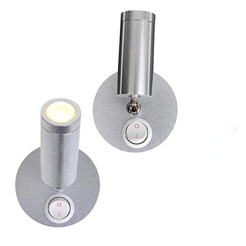 ProPlus Lot de 2 spots LED orientables 12 V 120 lm Ø 65 x 65 à 130 mm Interrupteur marche/arrêt