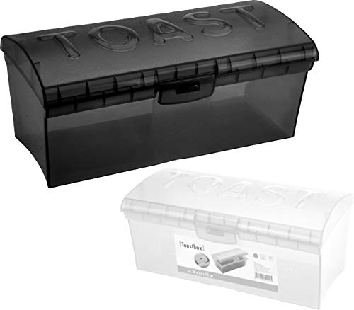 Vani Toastbrotbox Knäckebrotdose Knäckebrot Knäckebrotbox Brotdose Brotkasten ((Brotdose anthrazit mit 3 D Beschriftung))