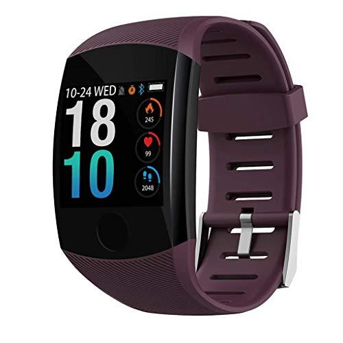 HSZH Smart Armband 1,3 Zoll Farbdisplay 200mAh Bluetooth Herzfrequenz-Blutdruckmessgerät Touch Sport Smart Watch Rotwein