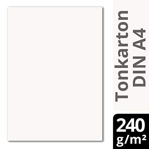 Glüxx Agent 50 Blatt Tonkarton DIN A4 - Weiss - 240 g/m² Dicker Bastelkarton - 21,0 x 29,7 cm Pappe zum basteln für Fotoalbum Menükarte Bedruckbar DIY kreativ Sein