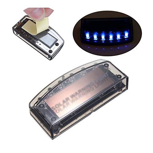 JUZZQ Alarma Antirrobo del Sensor del Coche ,6 LED Nueva Luz De Advertencia De Seguridad del Cargador Solar del Coche Lámpara De Alarma Antirrobo para Automóviles Bombilla Bombillas Estroboscópicas