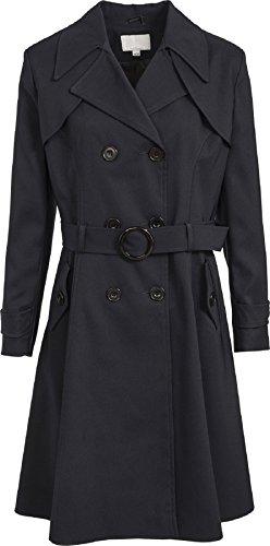 De La Creme Damen Trenchcoat Regenjacke Gr. 48, schwarz