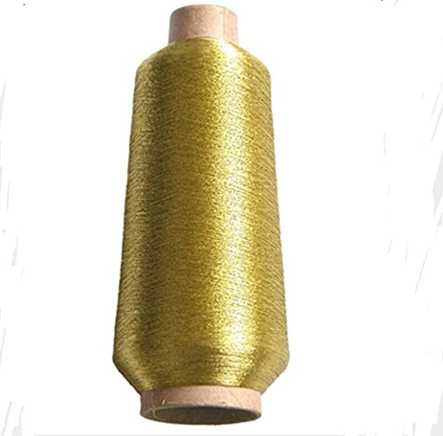 sparkle Metallic Threads Machine Embroidery - 5000 yards per roll (gold color)
