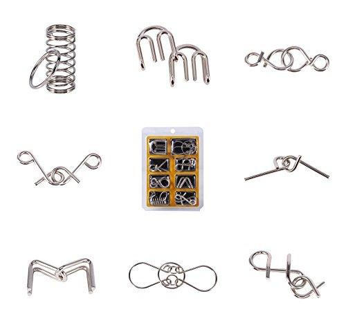 1/Set Bildungs-Spielzeug-Faden Metall IQ Puzzle Geist Test Geist Puzzle-Spiel für Erwachsene und Kinder von Spielzeug