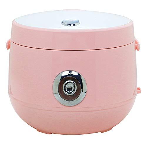 Cuiseur à riz,2L autocuiseurs électriques multifonctionnels portables pour la maison,Pot intérieur antiadhésif,Fonction de maintien au chaud,Petits appareils de dortoir faciles à utiliser,Rose