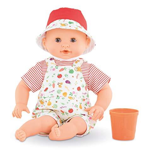 Corolle Mon Premier Poupon Badebaby Calypso / Weichkörper-Badepuppe mit Becher / Schlafaugen / Vanilleduft / abnehmbare Kleider / 30cm / Für Kinder ab 18 Monaten geeignet / Behält den Daumen im Mund