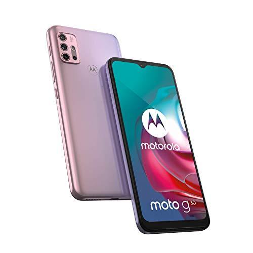 "Motorola moto g30 (6,5""-Display, 64-MP-Kamera, 4/128 GB, 5000 mAh, Dual-SIM, Android 11) Pastel Sky, inkl. Schutzcover [Exklusiv bei Amazon] - 6"