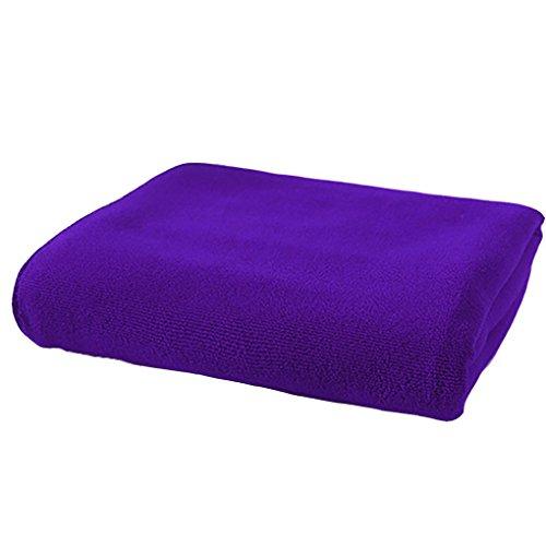 bodhi2000baño gamuza de microfibra toalla de mano Face manopla de lavado 30cm x 70cm, Microfibra, Morado, talla única