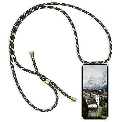 Alsoar Compatible para Galaxy S8 Funda Silicona Transparente Suave TPU Carcasa Collar Cadena Cuerda Moda Practico Cover Anti-Choque Anti-rasguños Protector Cubierta Case (3)