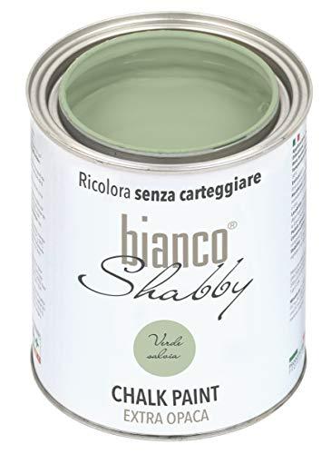 CHALK PAINT Verde Salvia per Mobili e Pareti - Pittura Shabby Chic Vintage EXTRA OPACA (1 Litro)