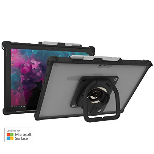 The Joy Factory aXtion Edge MP Rugged Shockproof Case for Microsoft Surface Pro 7/Surface Pro 6/ Surface Pro 5, Built-in Hand Strap, Kickstand (CWM310MP)