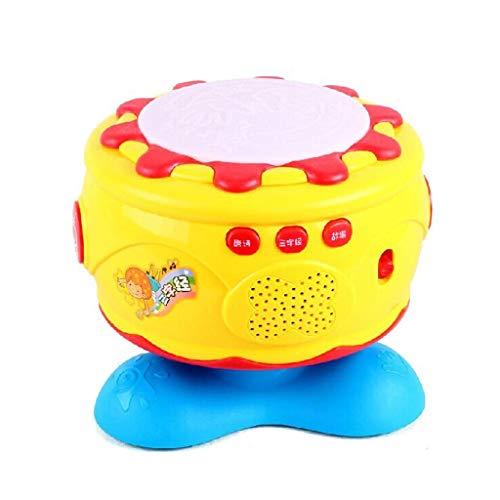 Bébé musical Tambour rechargeable Jouet enfants Tambour Early Education Puzzle 1-3 ans Vieux 0-6-12 mois Bébé Jouets musicaux Sons et Lumière for les enfants de cadeaux ( Color : B:battery+charging )