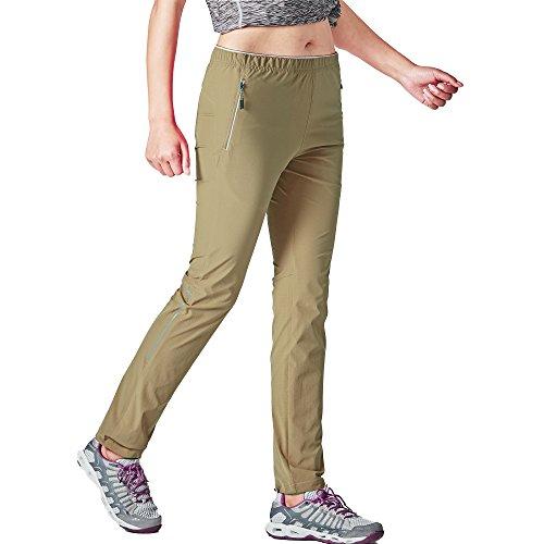 Pantalon de survêtement GITVIENAR pour femme - Coton de qualité supérieure - Pour le sport et le loisir, MYD328-18161, kaki, EU XS(Taille:73cm)