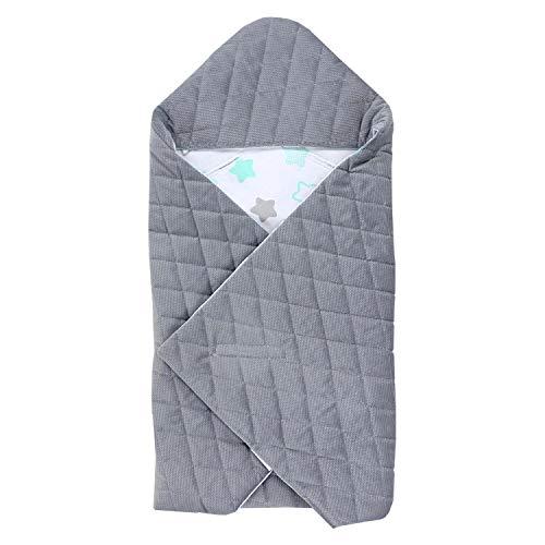 TupTam Baby Einschlagdecke für Babyschale - Sommer, Farbe: Sterne Mint/Grau, Größe: ca. 75 x 75...