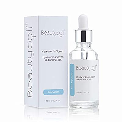 Beautycoll Sodium PCA and Hyaluronic Acid Hydrating Serum   Protect Skin   Anti Ageing   Stimulate Collagen Cell Production - 50ml