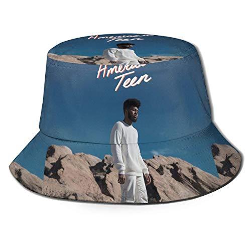 GYHJH Tensen Gorra de Cubo de Moda Unisex Sombrero para el Sol Khalid AS PIC Sombrero de Pescador Americano Adolescente para Verano, Playa, al Aire Libre