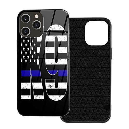 Police K9 Thin Blue Line 7 - Funda para iPhone 12/12 Pro/12 Pro Max /12 Mini, ultrafina, brillante, gel de goma de poliuretano termoplástico suave, antiarañazos, absorción de golpes