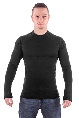 MarkFit heren 100% Merino wol shirt met lange mouwen daksteen hoogwaardig