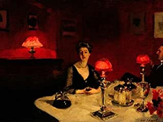 A Dinner Table at Night Poster Print by John Singer Sargent (11 x 14)