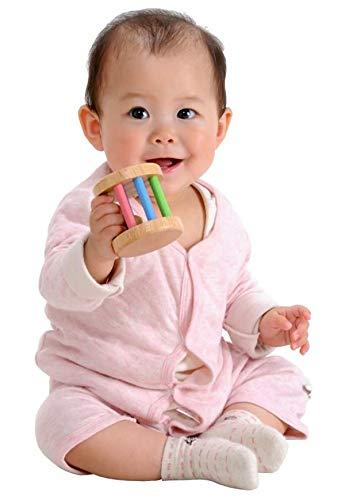木のおもちゃ知育玩具ラトルがらがらKOROKOROラトルパステル歯固めおしゃぶり出産祝いプレゼント音遊び安心安全舐めても安心0歳1歳