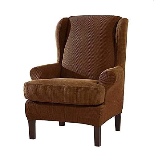 zvcv 2 Fundas para sillón de Orejas, Fundas para sillón de Orejas elásticas, Fundas para sofá de poliéster de Spandex, Protector de Muebles, Color Blanco