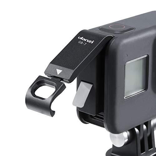 ULANZI G8-7 Aluminium Batteriefachdeckel Abnehmbarer Ladeanschluss-Adapter Typ C Batterieabdeckung für Go Pro Hero 8kamera Schwarz