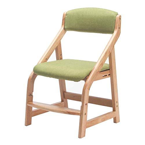 JIEER-C vrijetijdsstoel, kinderstoel, eetkamerstoel, massief hout, bureaustoel voor studenten, in hoogte verstelbaar, robuust T7
