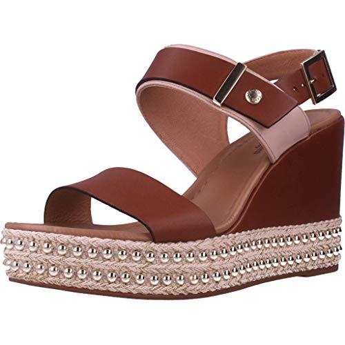 Sandalo da Donna NeroGiardini in Pelle Cuoio E012450D. Scarpa dal Design Raffinato. Collezione Primavera Estate 2020. EU 38