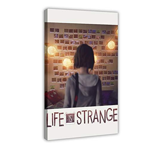 Póster retro de Spielplakat Life Is Strange PolaroidRetro, lienzo para decoración de pared, impresión de cuadros para sala de estar o dormitorio, 60 x 90 cm