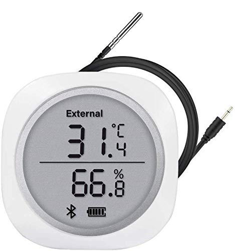 Inkbird Bluetooth 温度計 湿度計 スマートセンサー 温湿度計 データロガー 防水外部プローブ付き LCD大画面 °Cと°Fの切り替え ワイン醸造 温度管理 (Inkbird-PLUS)